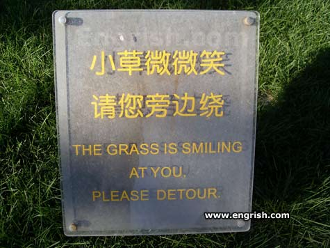 Funny Pictures go here Smiling-grass