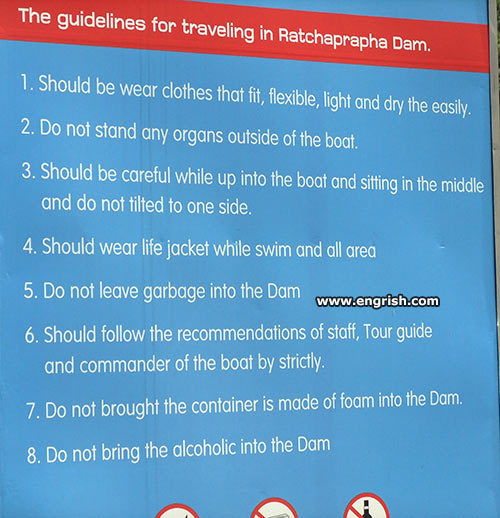 ratchaprapha-dam-sign